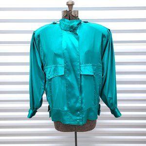 Vintage 80s Suzelle Retro Blouse Top Shirt M
